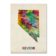 "Trademark Fine Art 'Nevada Map' 18"" x 24"" Canvas Art"