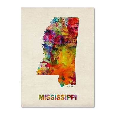 Trademark Fine Art 'Mississippi Map' 14