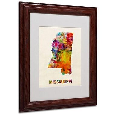 Trademark Fine Art 'Mississippi Map' 11