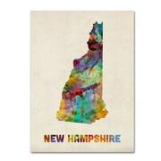 "Trademark Fine Art 'New Hampshire Map' 14"" x 19"" Canvas Art"