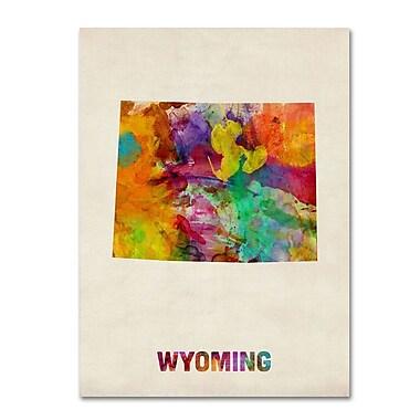 Trademark Fine Art 'Wyoming Map' 14