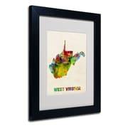 Trademark Fine Art 'West Virginia Map'