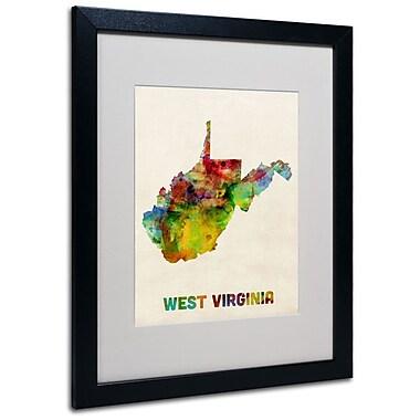 Trademark Fine Art 'West Virginia Map' 16