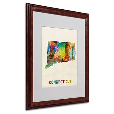 Trademark Fine Art 'Connecticut Map' 16