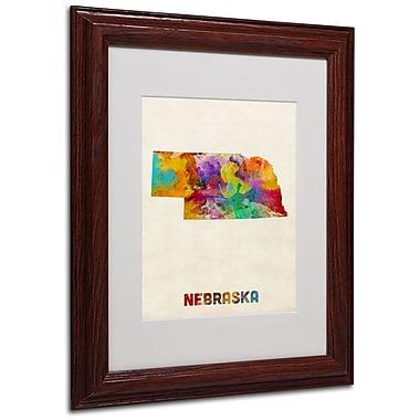Trademark Fine Art 'Nebraska Map' 11