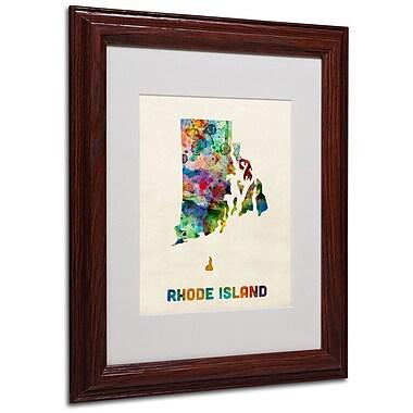 Trademark Fine Art 'Rhode Island Map' 11
