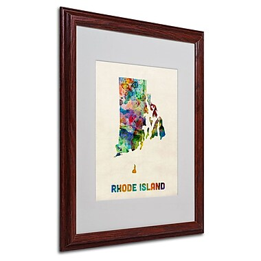 Trademark Fine Art 'Rhode Island Map' 16