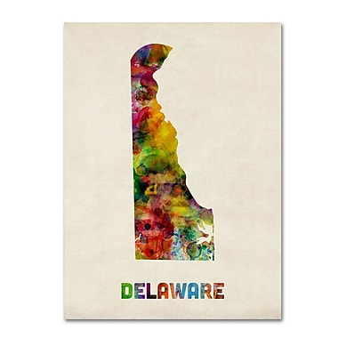 Trademark Fine Art 'Delaware Map' 18