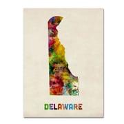 "Trademark Fine Art 'Delaware Map' 18"" x 24"" Canvas Art"