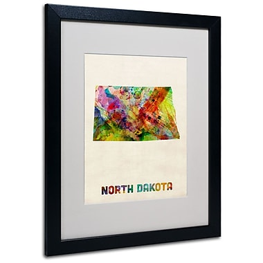 Trademark Fine Art 'North Dakota Map' 16