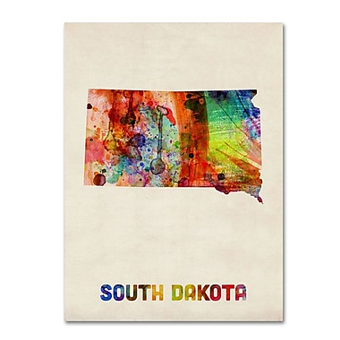 Trademark Fine Art 'South Dakota Map' 14