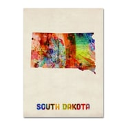 "Trademark Fine Art 'South Dakota Map' 18"" x 24"" Canvas Art"