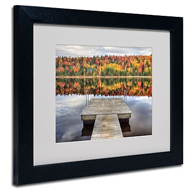 Trademark Fine Art 'Autumn' 11in. x 14in. Black Frame Art