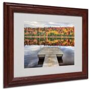 """Trademark Fine Art 'Autumn' 11"""" x 14"""" Wood Frame Art"""