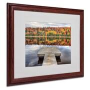 """Trademark Fine Art 'Autumn' 16"""" x 20"""" Wood Frame Art"""