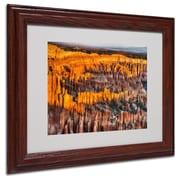 """Trademark Fine Art 'Bryce Canyon Sunrise' 11"""" x 14"""" Wood Frame Art"""