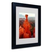 "Trademark Fine Art 'Bryce Canyon Thor' 11"" x 14"" Black Frame Art"