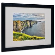 "Trademark Fine Art 'Cliffs of Moher Ireland' 16"" x 20"" Black Frame Art"