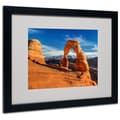 Trademark Fine Art 'Delicate Arch' 16in. x 20in. Black Frame Art