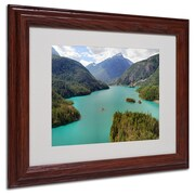 "Trademark Fine Art 'Diablo Lake' 11"" x 14"" Wood Frame Art"