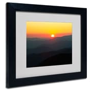 Trademark Fine Art 'Great Smoky Mountains Sunset'