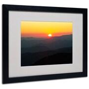 "Trademark Fine Art 'Great Smoky Mountains Sunset' 16"" x 20"" Black Frame Art"