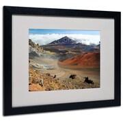 "Trademark Fine Art 'Haleakala Maui' 16"" x 20"" Black Frame Art"
