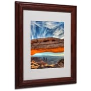 "Trademark Fine Art 'Mesa Arch Sunrise 2' 11"" x 14"" Wood Frame Art"