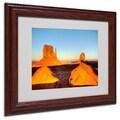 Trademark Fine Art 'Monument Valley Sunset' 11in. x 14in. Wood Frame Art