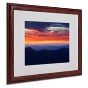 """Trademark Fine Art 'Mount Mitchell Sunset' 16"""" x 20"""" Wood Frame Art"""