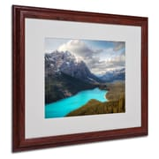 "Trademark Fine Art 'Peyto Lake' 16"" x 20"" Wood Frame Art"