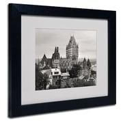 "Trademark Fine Art 'Quebec City' 11"" x 14"" Black Frame Art"