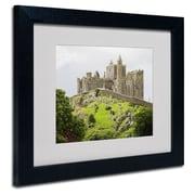 "Trademark Fine Art 'Rock of Cashel Ireland' 11"" x 14"" Black Frame Art"