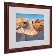 "Trademark Fine Art 'Valley of Fire Wave' 16"" x 20"" Wood Frame Art"