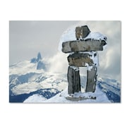 "Trademark Fine Art 'Whistler Inukshuk' 30"" x 47"" Canvas Art"