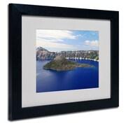 "Trademark Fine Art 'Wizard Island' 11"" x 14"" Black Frame Art"