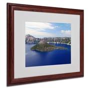 "Trademark Fine Art 'Wizard Island' 16"" x 20"" Wood Frame Art"