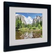 "Trademark Fine Art 'Yosemite' 11"" x 14"" Black Frame Art"