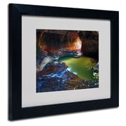 "Trademark Fine Art 'Zion Subway' 11"" x 14"" Black Frame Art"