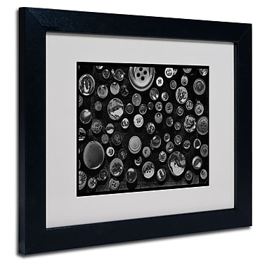 Trademark Fine Art 'Black & White Buttons' 11