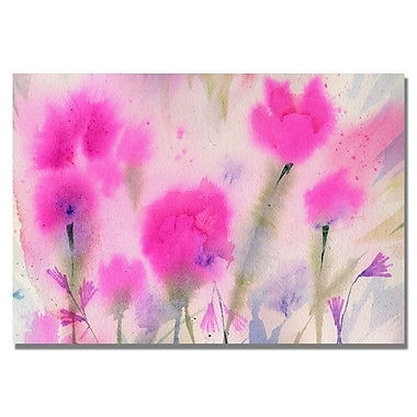 Trademark Fine Art 'Fushia Flowers' 26