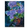 Trademark Fine Art 'Bouquet in Violet' 18in. x 24in. Canvas Art