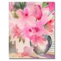 Trademark Fine Art 'Pink Azaleas' 18in. x 24in. Canvas Art
