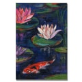 Trademark Fine Art 'The Lily Pond' 16in. x 24in. Canvas Art
