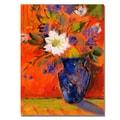 Trademark Fine Art 'Orange Wall' 35in. x 47in. Canvas Art