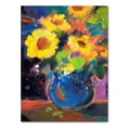 Trademark Fine Art 'Yellow Blue' 18in. x 24in. Canvas Art