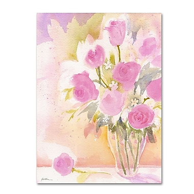 Trademark Fine Art 'Vase with Pink Roses' 35