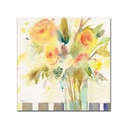 "Trademark Fine Art 'The Striped Table' 14"" x 14"" Canvas Art"