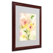 Trademark Fine Art 'Two Garden Flowers' 16 x 20 Wood Frame Art