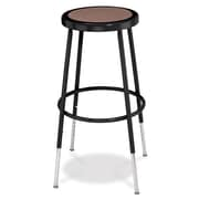 NPS® 25 - 32 1/2 Hardboard Round Adjustable Stool, Black, 4/Pack